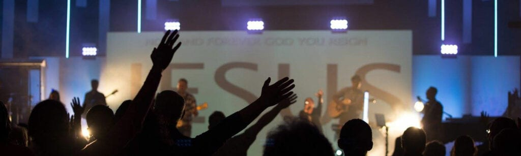 Worship music happening at The Point Church in San Jose